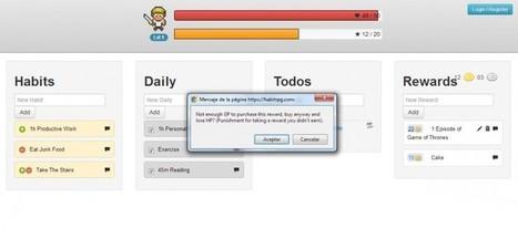 HabitRPG, gamificación para ser más productivos | Salud Publica | Scoop.it