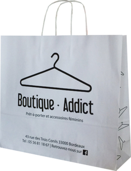Le sac personnalisable réalisé pour la Boutique Addict à Bordeaux   Sac papier publicitaire   Scoop.it