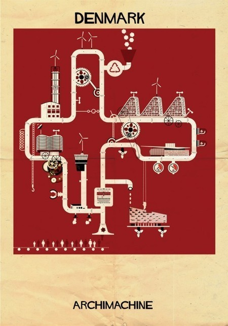 ARCHIMACHINE: 17 Countries Illustrated as Architectural Machines   The Architecture of the City   Scoop.it