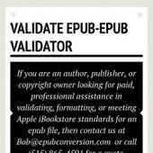 Infographic: Validate epub-Epub validator | Infogram | Ebook Conversion Service | Scoop.it