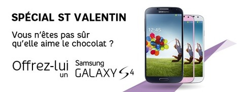 Spécial Saint Valentin: 40€ de réduction sur le Galaxy S4 | Programme Affiliation SFR | Scoop.it