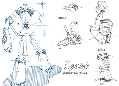 RoboSavvy Humanoid Design Challenge - GrabCAD | The Robot Times | Scoop.it