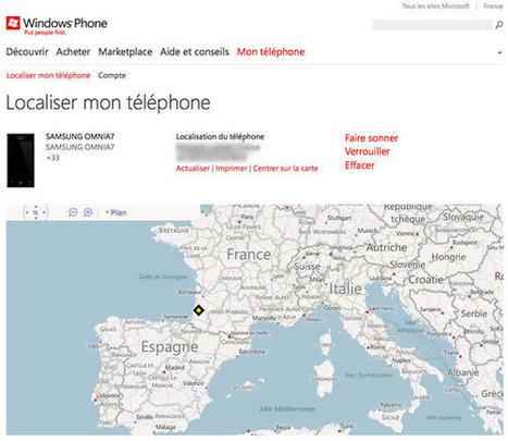 Localiser mon Windows Phone7 | Protuts.net | Smartphones&tablette infos | Scoop.it