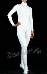 Unicolor White PVC Catsuit [C20022] - $44.00 : Shop Zentai Suits Full Bodysuits And Catsuits From Zentaing.com | zentai catsuit lycra | Scoop.it