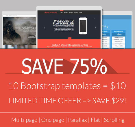 10 Premium Responsive Bootstrap Templates - only $10! - MightyDeals | Template & Webdesign | Scoop.it