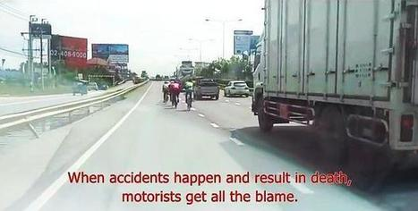 Dangers of bicycling close to large, speeding trucks | Bangkok Post: learning | Ajarn Donald's Educational News | Scoop.it