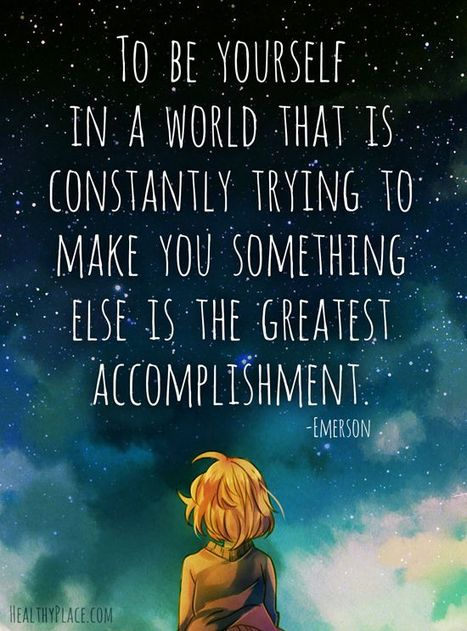 To be yourself in a world that is constantly trying to make you something else is the greatest accomplishment.   eco-friendly travel, ecotourism   Scoop.it