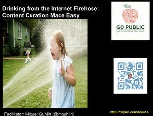 Around the Corner-MGuhlin.org: Podcast - #tcea14 - Drinking from the Internet Firehose - Content Curation | RCPS Curation Tools | Scoop.it