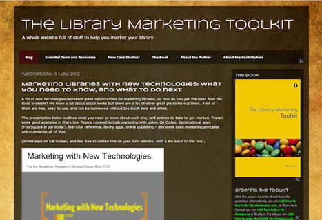New Introducing the Library Marketing Toolkit website! – Stephen's Lighthouse | The Information Specialist's Scoop | Scoop.it