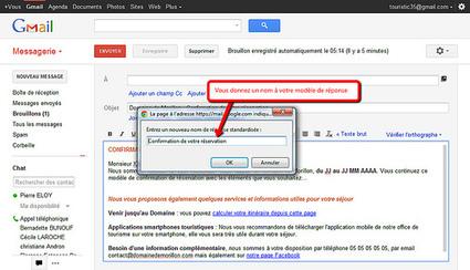 Automatiser la réponse aux courriels sur Gmail, un gain de temps | Chambres d'hôtes et Hôtels indépendants | Scoop.it