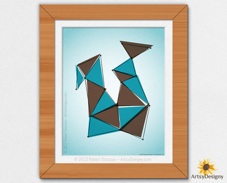 Origami 2 - Abstract Digital Print - Contemporary Art - Modern Art - 8x10 | Collection of Digital | Scoop.it