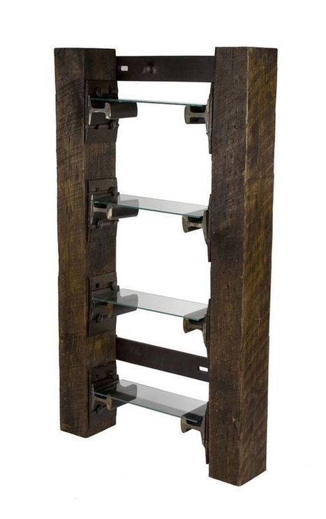 Ecofriendly furniture units made from recycled railroad steel and timber   We love upcycling!   Scoop.it