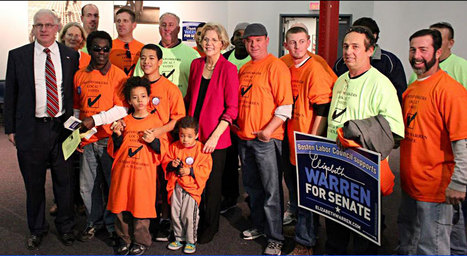 """photo: """"Kicked off a great canvass with the Ironworkers Local 7 in South Boston today! -@ElizabethforMA 