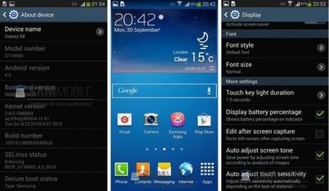Samsung Galaxy S4 : la mise à jour Android 4.3 Jelly Bean disponible ! (MAJ)   Geeks   Scoop.it