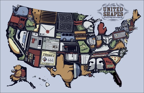 The United Shapes of America | Geography Education | Scoop.it