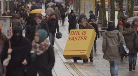 Agency tricks DHL's rivals into delivering color-changing ads in disguise   Media Hill's   Scoop.it