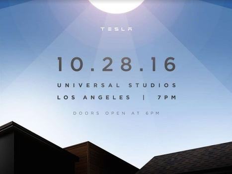 Tesla's big solar roof unveiling will happen on Friday | Real Estate Plus+ Daily News | Scoop.it