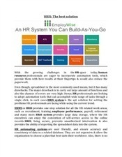 HRIS - The best solution | EmployWise | Scoop.it