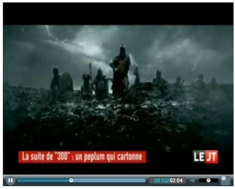 JT 18h45 - Canal + | 300 : Rise Of An Empire - TV & Web coverage | Scoop.it