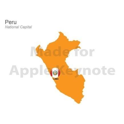 Map of Peru $26.99 | Apple Keynote Slides For Sale | Scoop.it