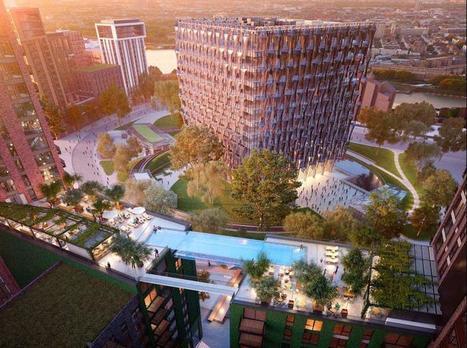 Une incroyable piscine transparente reliant deux immeubles londoniens   D'Dline 2020, vecteur du bâtiment durable   Scoop.it