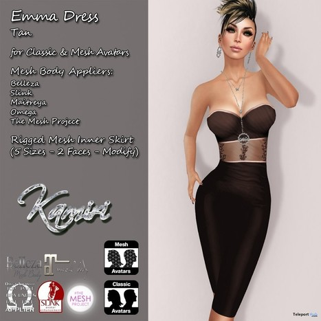 Emma Dress With Mesh Body Appliers Group Gift by Kamiri | Teleport Hub - Second Life Freebies | Second Life Freebies | Scoop.it