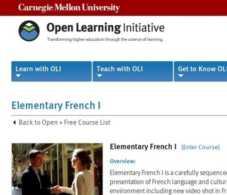 Elementary French I | Open Learning Initiative | General learning related websites | Scoop.it