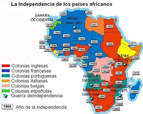 Mapa de la descolonización de África | Descolonización de África | Scoop.it