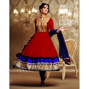 Fia Navy Blue & Maroon Anarkali Churidar Kameez with Dupatta-8162 | Buy online Shopping in India Apparel, Watches, Sunglasses | Scoop.it