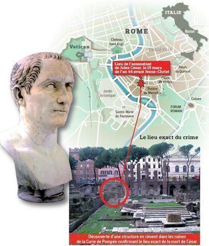 Le lieu de l'assassinat de Jules César localisé   Latin   Scoop.it