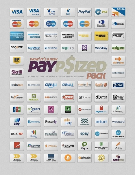 75 Free Buttons For Online Payment Service Providers | PEPSized | Dev & Webdesign | Scoop.it