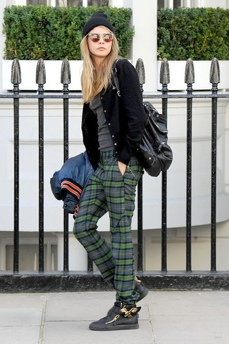 Cara Delevingne on the street in London - celebrity fashion (Glamour.com UK) | Fashion | Scoop.it