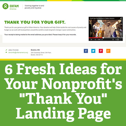 "6 Fresh Ideas for Your Nonprofit's ""Thank You"" Landing Page 