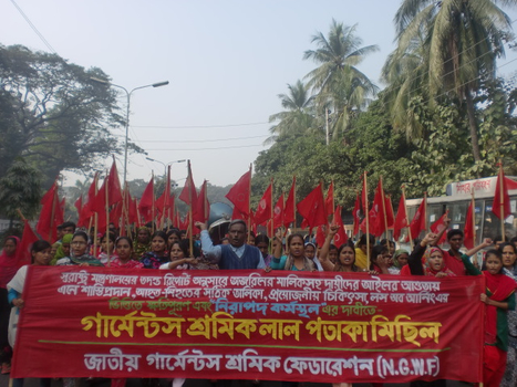 Garment Workers Red Flag Procession related to Tarzeen Fashion Fire | Asian Labour Update | Scoop.it