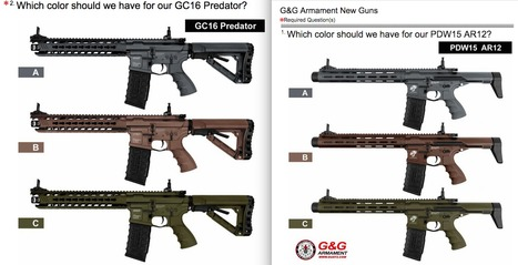 G&G wants you to PICK A COLOR! - A Survey on their next guns! | Thumpy's 3D House of Airsoft™ @ Scoop.it | Scoop.it