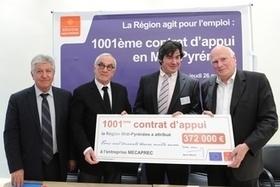 Aide aux entreprises : La Région Midi-Pyrénées signe son 1001e contrat d'appui | La lettre de Toulouse | Scoop.it