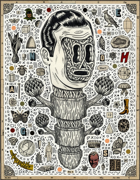 Une illustration signée Bene Rohlmann   du9, l'autre bande dessinée   idées graphiques   Scoop.it