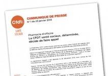 Pharmacie d'officine : la CFDT santé sociaux, déterminée, décide de faire appel | CFDT santé sociaux | marché cosmétique mondial | Scoop.it