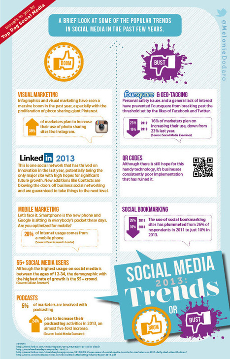 Social Media Trends 2013: What's Hot, What's Not [Infographic] | The Social Network Times | Scoop.it
