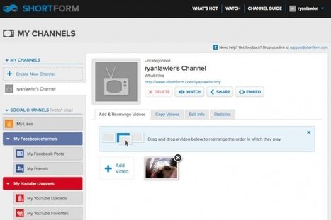 ShortForm's social channels add videos from Facebook, Twitter | Entrepreneurship, Innovation | Scoop.it