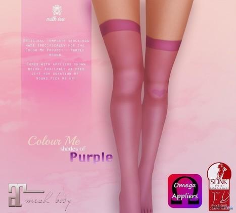 Colour Me Shades of Purple Stockings by Milk Tea | Teleport Hub - Second Life Freebies | Second Life Freebies | Scoop.it