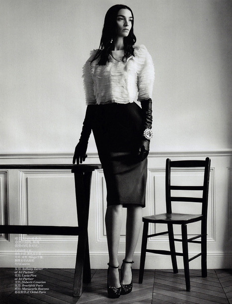 Mariacarla Boscono by Willy Vanderperre for Vogue China November 2013 | The Fashionography | Fashion | Scoop.it