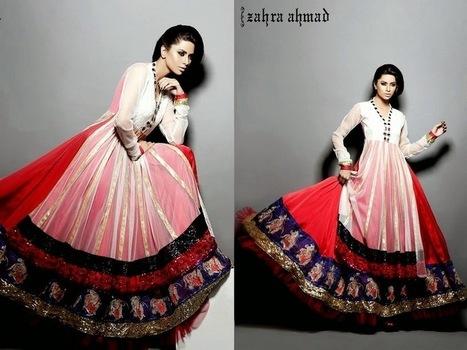 New Bridal Wear Anarkali Frocks From Summer 2014 By Zara Ahmad | Women Fashion | Women fashion | Scoop.it