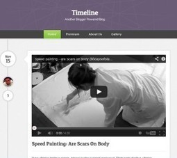 Timeline Blogger Template Free Download by Halisya - HeavenThemes | Blogger themes | Scoop.it