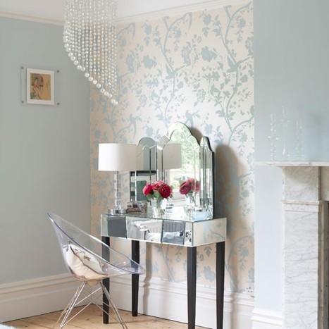 Create zones in the bedroom | Bedroom wallpaper ideas - 10 best | housetohome.co.uk | Bedroom Wallpaper | Scoop.it