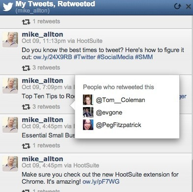 See who is retweeting you within the HootSuite Dashboard   The Content Marketing Hat   Scoop.it