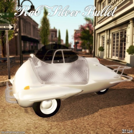 Silver Bullet Custom-made Car Teleport Hub Group Gift By RaC | Teleport Hub - Second Life Freebies | Second Life Freebies | Scoop.it