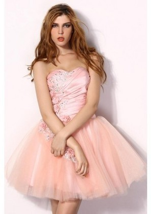 A Line Sweetheart Mini Pink Tulle Homecoming Dress Adoaa0049 - Homecoming Dresses - Special Occasion Dresses | mode | Scoop.it