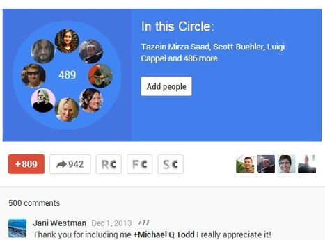 The most shared Google+ circles of all time #MegaBall | Google Plus Updates | Scoop.it