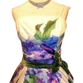 Vintage 50's Lilac & Rose Print Cocktail Party Dress | contemporary fashion design | Scoop.it